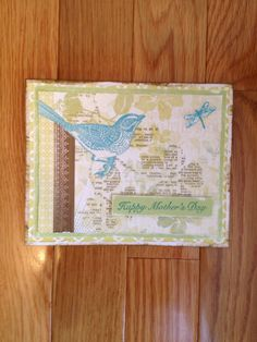 Mothers Day card made from the left over papers from the Skylark kit!  I absolutely love this kit from Close to my Heart!  Visit my website at www.rondas-dragonfly-cards.ctmh.com