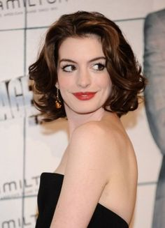 Hathaway's Luscious Mid-Length Curly Synthetic Celebrity Wig