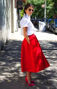 Red adds that vital pop to any outfit!