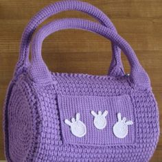 custom design purple bag