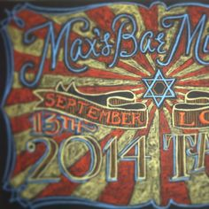 Max's Bar Mitzvah welcome event chalkboard designed by Andrea Casey  www.andreacasey.com