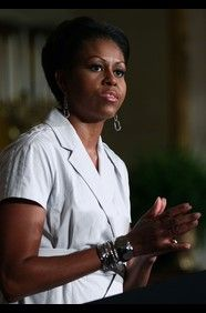 Michelle Obama, the incredibly popular (and hard-working!) First Lady of the United States.