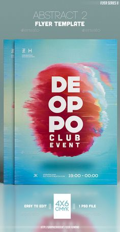 #Abstract 2 #Flyer Template - Clubs & Parties #Events