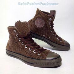 Converse Mens All Star Corduroy Shoes Brown sz 7 Hi Top Trainers Womens US 9 40 Converse Shoes Outfit, Men's Shoes, Converse Chuck Taylor All Star, Chuck Taylor Sneakers, Cross Shoes, All Star Shoes, Office Shoes, Chuck Taylors, Trainers
