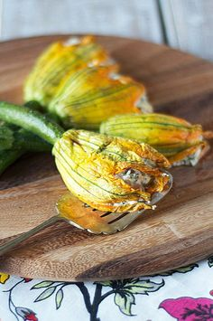 Zucchini flowers are a problem for me. If I see them for sale, I just can't seem to walk past them without buying them. The problem is not really the excessive purchasing, but instead the fact that they taste wonderful stuffed and deep fried. All that deep frying is not healthy for an individual, so …