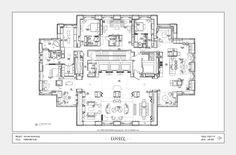 Skyline Penthouse - Furniture Plan - Suzanne Lovell Inc.