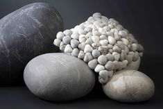 In late January I wrote about the cool looking rock cushions LivingStones. Then Sian Eliot (from Willowlamp Studio) commented that the South African designer Ronel Jordaan has been making rock cushions for years. Naturally I had to investigate the case. Felt Cushion, Decorative Pebbles, Rock Decor, Decorative Cushions, Scatter Cushions, Outdoor Cushions, Wool Pillows, Textiles, Rocks And Gems