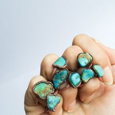 Turquoise nugget ring