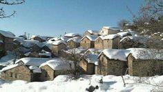 Village kabyle sous la neige _ Algérie