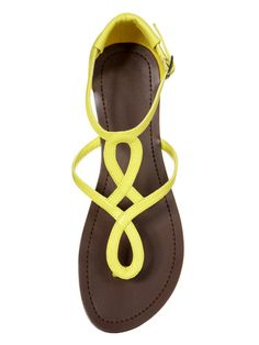 bright yellow sandals