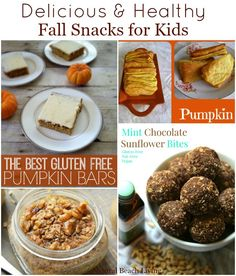 Amazingly Delicious and Healthy Fall Snacks for Kids and Adults. Gluten Free, Vegan, Pumpkin, and so much more via Natural Beach Living
