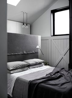 All grey bed