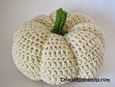 crochet pumpkin pattern