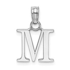 Mia Diamonds 14k Yellow Gold Small Slanted Block InitialG Charm