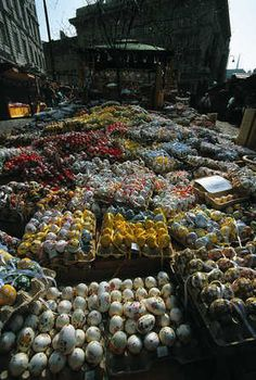 Easter Market in the Freyung in Vienna (that's a whole lotta eggs!)