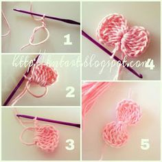 Easy Crochet: Flowers & Bows - Page 3 of 31 - Free Crochet Patterns Crochet Diy, Crochet Simple, Crochet Amigurumi, Crochet Motifs, Crochet Flower Patterns, Crochet Crafts, Crochet Flowers, Crochet Stitches, Crochet Projects