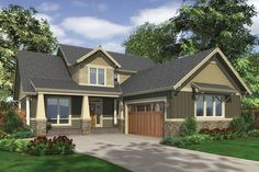 House Plan 48-267 2500 sq ft; 44'w, 70' deep; would want mirror image; has small office and the DR on main floor that could be used for yoga room