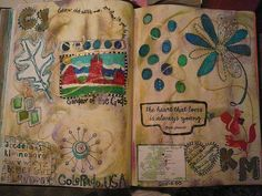 Art journal inspiration: journal page