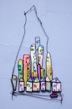 Glass Art by Maria Barber - Wall Art 'City Limits'