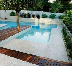 Swimming Pool Decorations, Swimming Pool Lights, Swimming Pools, Backyard Pool Designs, Swimming Pool Designs, Pool Landscaping, Garden Design Ideas On A Budget, Small Garden Design, Garden Ideas