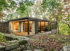 Richard Neutra's 1962 Pitcairn House, located in Bryn Athyn, Pennsylvania