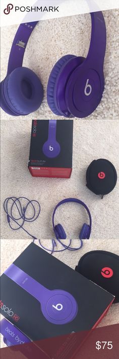Beats Solo HD Selling my purple Beats Solo HD! They have been rarely used and come with the original packaging and everything that came with it. Beats by Dr. Dre Other