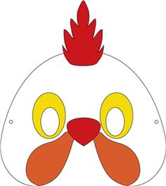 Chicken Mask Printable
