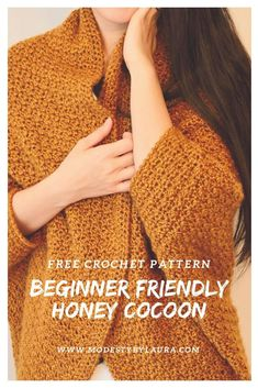 Get ready for the fall with this easy Honey Cocoon crochet pattern. Made with Lion Brand Heartland yarn which creates a … – Knitting and crocheting Crochet Cardigan Pattern, Crochet Shawl, Knit Crochet, Crochet Sweaters, Crochet Tops, Crochet Shrugs, Crochet Cocoon, Shrug Pattern, Sweater Patterns