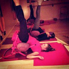 53 best iyengar yoga chair inversions images  iyengar