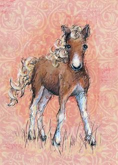 Rosenberry Rooms has everything imaginable for your child's room! Share the news and get $20 Off  your purchase! (*Minimum purchase required.) Florence The Foal Canvas Wall Art #rosenberryrooms