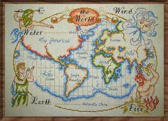 World Map by Katjakay on deviantART