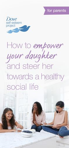 Many young girls focus on fitting in rather than finding a group of trusted friends. As her role model, you can help your daughter develop healthy friendships. Click through to learn more about teen peer groups and the pressure to fit in. For more self-esteem articles, activities, and advice—head to www.pinterest.com/selfesteem. #SelfEsteemProject