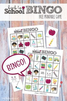 This back to school bingo game will be so fun to play on the first day of school! I love free printables.{OneCreativeMommy.com} #bingo #backtoschool #freeprintable Back To School Crafts, Back To School Hacks, School Tips, Family Set, Family Night, Fall Family, Games For Kids, Games To Play, Bingo Games