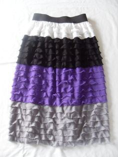 Ruffle Fabric Maxi Skirt  PDF PATTERN by sumossweetstuff on Etsy