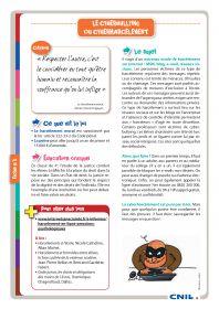 13 fiches pédagogiques proposées par la CNIL pour aborder les dangers d'Internet.
