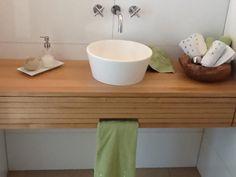 Wohnraum ››› Baden: Waschtisch Gäste WC Eiche » Beim Einmöbler