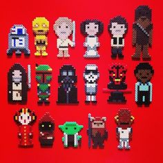 Star Wars Perler Bead Characters Magnets by HarmonArt