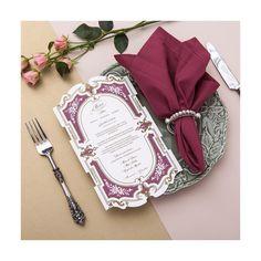 Menu para Manuela + Gustavo . Faca especial e moldura em 2 cores por @bodadesign #weddingstationery #bodadesign