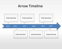 Free arrow timeline PowerPoint templatehelps demonstrate the major breakthroughs of your business #Timelines #PowerPoint