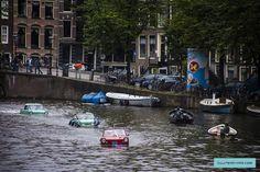 Amfibische Voertuigen Amsterdamse grachten 2015