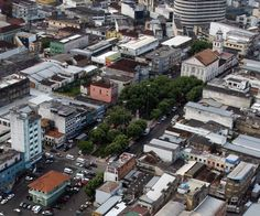 Vista aérea da Praça dos Remédios. Manaus. Acervo: Amazonas Em Tempo.