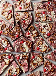 Beet + Chocolate Reindeer Bark - Love Beets