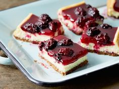 Get Ree Drummond's Blackberry Cheesecake Squares Recipe from Food Network