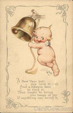 A New Year Bell Kewpie Rose O'Neill