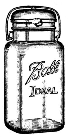 Vintage Clip Art - Cute Glass Mason Jar - Label - The Graphics Fairy  can use as a tag on home canned gifts. punch hole in top and tie on with baker's twine