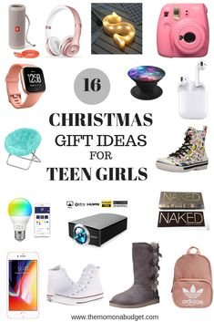 16 Christmas Gift Ideas for Teen Girls - Looking for the perfect gift for that special teen girl in your life? Here are 16 best Christmas gift ideas for the teen girl on your list. Teenage Girl Gifts Christmas, Tween Girl Gifts, Birthday Gifts For Teens, Christmas Gifts For Friends, Wishlist For Christmas, Christmas Gift Ideas For Teens, Teenage Gifts, Teen Girl Birthday, Birthday Presents