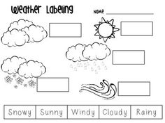Printables Weather Worksheets weather match printable seasons for preschool working on and words in you classroom or that the letter y can say i at end of this worksheet works great