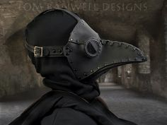 Krankheit - rivited plague doctor mask by Tom Banwell