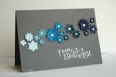 ombre' colored flower spray. #stampinup #birthdaycard