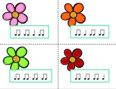 Springtime Find the Flower Tika-TI Music Education Activities, Education For All, Music Class, Music Mix, Music Games, Rhythmic Pattern, Classroom Inspiration, Classroom Ideas, Reading Music